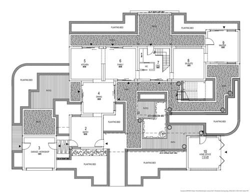 2010 Dream Home: Ground Floor Plan with Landscape  Flickr - Photo ...