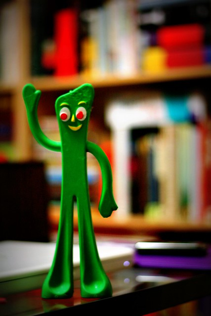 """Gumby Reader"" photo by N.Dunn"