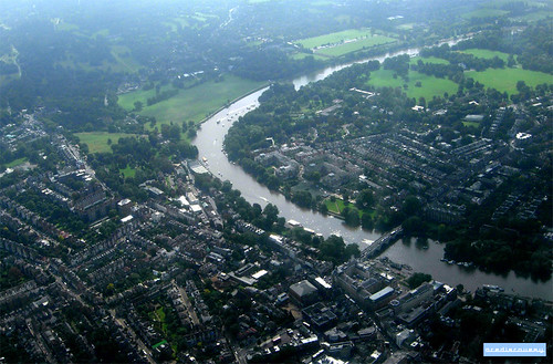 Meandering River Thames, aerial photograph