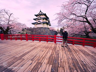 Hirosaki Castle Japan. Photographer Captures Castle.  © Glenn Waters.  Over 3,000 visits to this photo.  Thank you.
