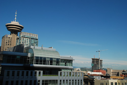 Vancouver Skyline during Woodwards reconstruction