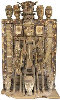 5849 b shrine panel Kalabari, Nigeria