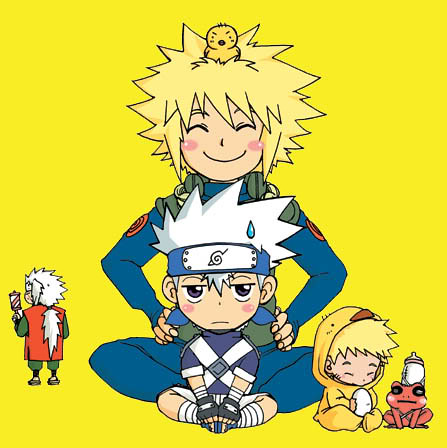 Chibi_Naruto_Kakashi_and4th | Chibi-Naruto,Kid Kakashi,and ...