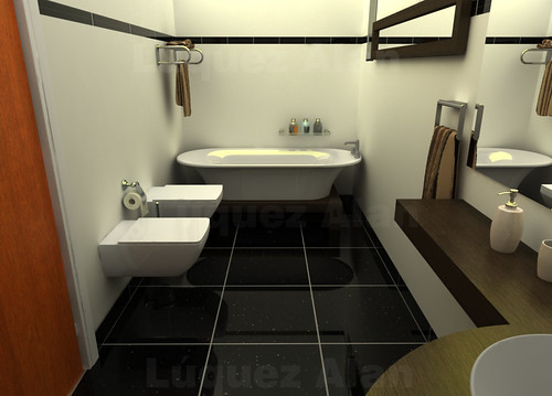 Baño Minimalista Pequeno ~ Dikidu.com