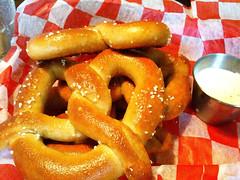 breakfast, baked goods, food, dish, cuisine, snack food, pretzel,