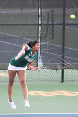 Fighting Irish women's tennis - serve