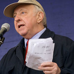 Arthur Scargill addresing Dublin May Day March