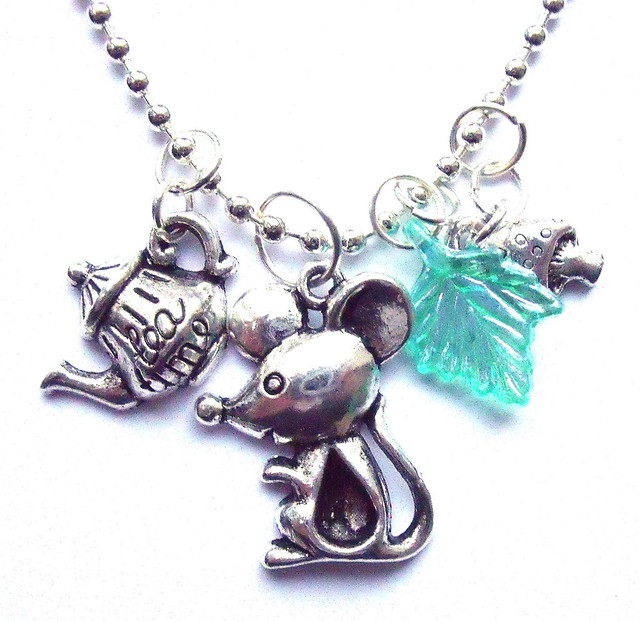 Cute Mouse Teaparty Charm Necklace