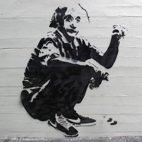Image: Albert Einstein in... Nikes?