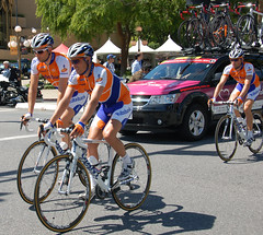 Rabobank riders get ready for the race