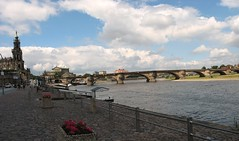 View over the Elbe from the Terrassenufer