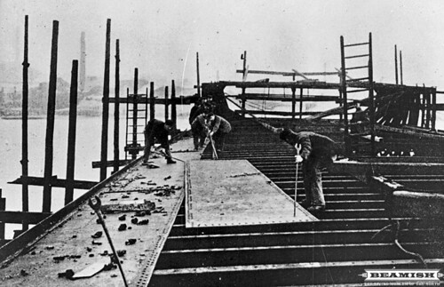 Construction of the Mauretania at Swan Hunter and Wigham Richardsons - Wallsend, Newcastle