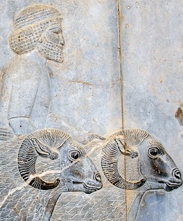 "Closeup #11: Tribute Bearer on the Apadana Staircase  (Best Viewed Size ""Large"") 