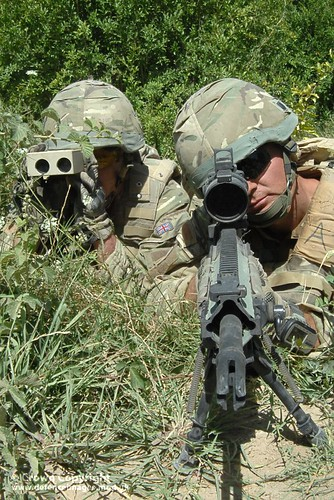 40 Cdo Royal Marines in Sangin, Afghanistan with Sharpshooter Rifle