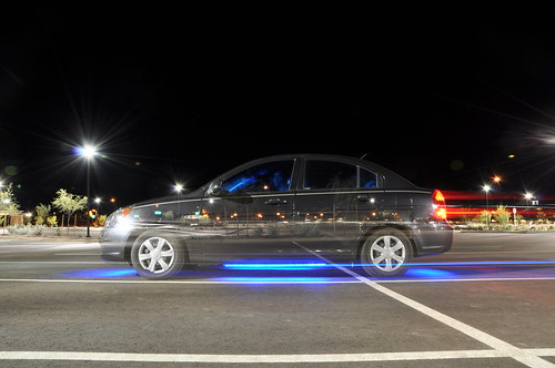 light car wheel night speed stream glow view post under front led transportation hyundai vechile