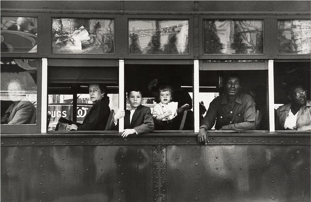 Trolley, New Orleans 1955, by Robert Frank