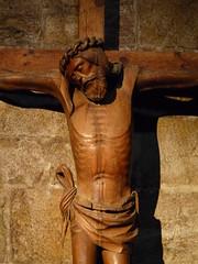 Christ en croix. Monastère San Salvador de Leyre, 18 août 2010.