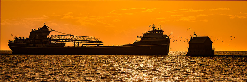 The Wilferd Sykes Enters Grand Haven Harbor