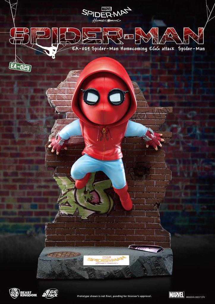 你我的街坊好鄰居!!野獸國Egg Attack 系列 蜘蛛人:返校日【蜘蛛人(自製服裝ver.)】場景雕像作品 Spiderman:Homecoming- Spider-man EA-029