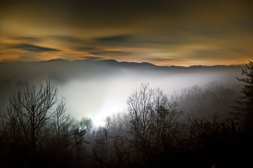 longexposure trees winter sky mountains silhouette fog clouds forest landscape lights woods nikon skies spooky orangesky nightscene blueridgemountains appalachianmountains cherohalaskyway nantahalanationalforest scenicbyway cherokeenationalforest d90 tellicoplains unicoimountains scenicsnotjustlandscapes 80secexp