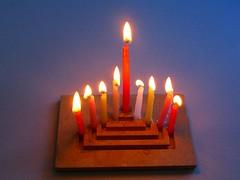 candle, hanukkah, lighting,