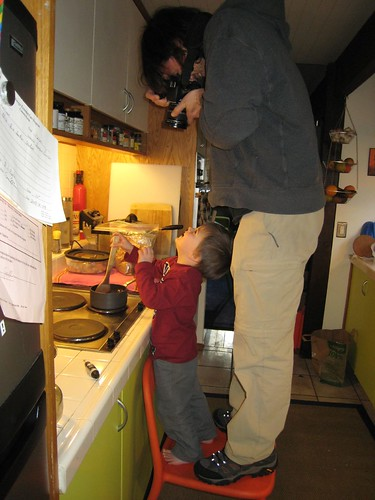making hot chocolate, 3 year old, cooking, … IMG_1884