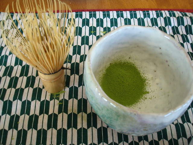 Sansai with Matcha Powder