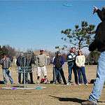 Scott Holter demonstrates a loft putt at the Skills Clinic, February 26th, at Expo Park