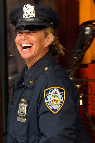 NYPD Female Police Officer, West 42nd Street, New York City