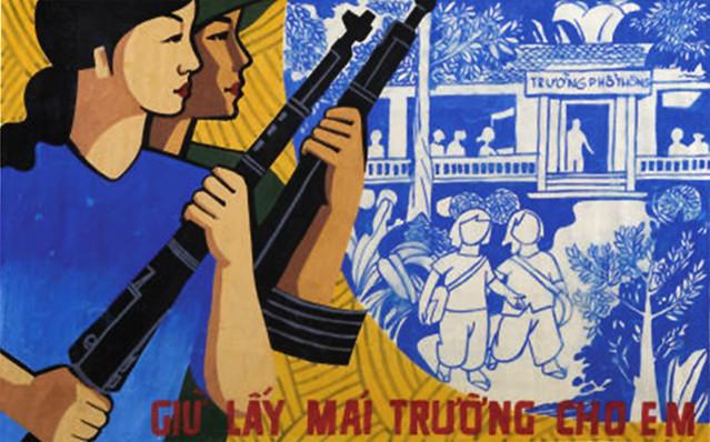 North VN propaganda poster
