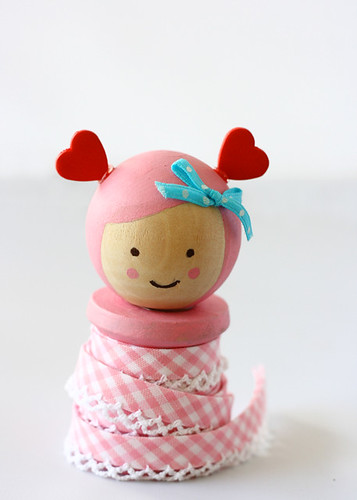 Valentine Spool Doll by Sweet Tidings