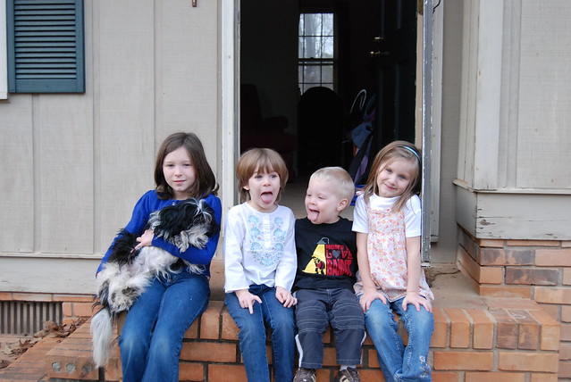 the kids and the dog