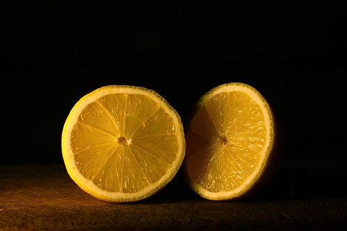 two more halves of a lemon