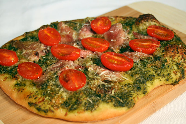 Ham And Tomato Pizza With Italian Salsa Verde Sauce | Flickr - Photo ...