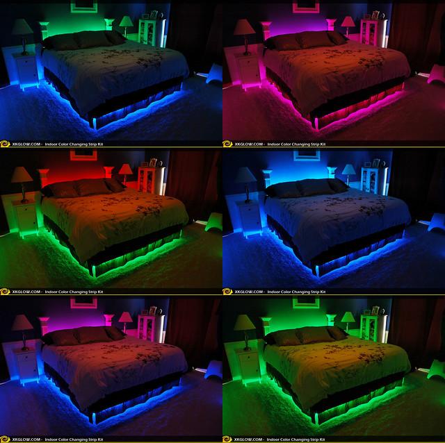 xkglow accent led indoor lighting effect bedroom flickr