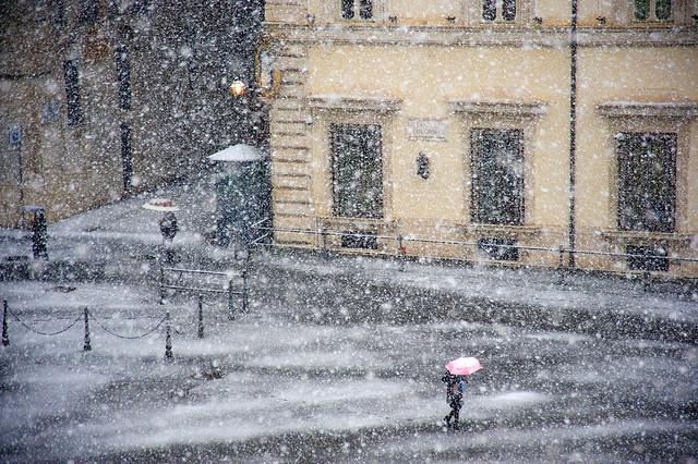 snow in Rome 2