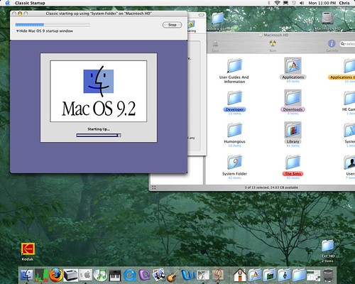 OS 9 startup in 10.3