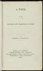 A Week on the Concord and Merrimack Rivers [Title page]
