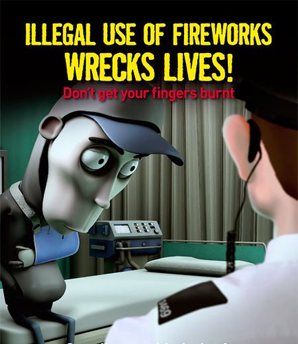 Epic Fireworks - illegal use of fireworks wrecks lives poster