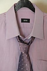sleeve(0.0), design(0.0), tuxedo(0.0), suit(0.0), clothing(1.0), collar(1.0), dress shirt(1.0), formal wear(1.0), necktie(1.0),