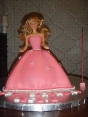 cake, baked goods, sugar paste, food, cake decorating, birthday cake, quinceaã±era, dessert, pink, doll, barbie, toy,