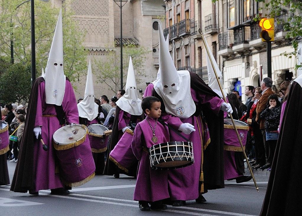 Semana Santa de Zaragoza 2009.Domingo de Ramos, Nazarenos