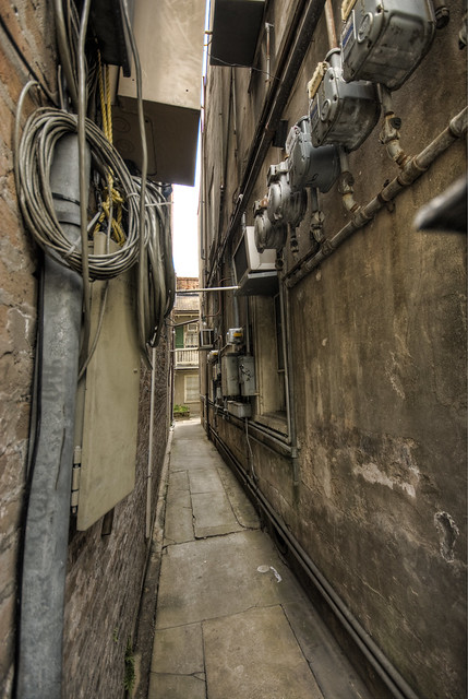 small corridor between buildings explore daniel horande