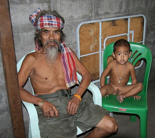 keeping grandpa company