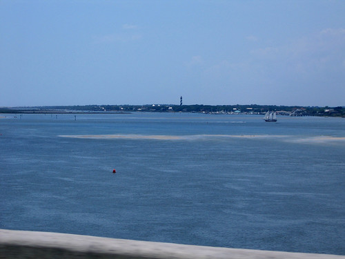 view from the bridge between st augustine and vilano beach