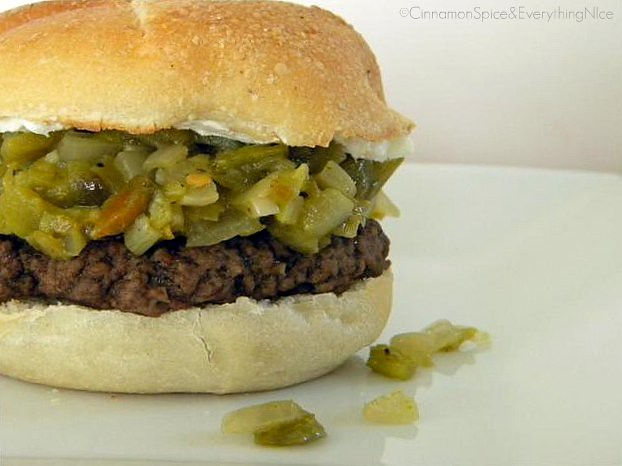 Blogger Burger Club: Green Chile Pepper & Cream Cheese Burger | Flickr ...