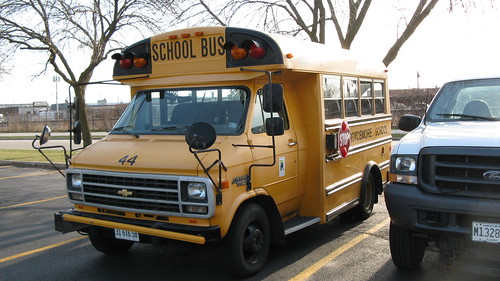Small Chevrolet van school bus. Glenview Illinois. April 2010. by Eddie from Chicago