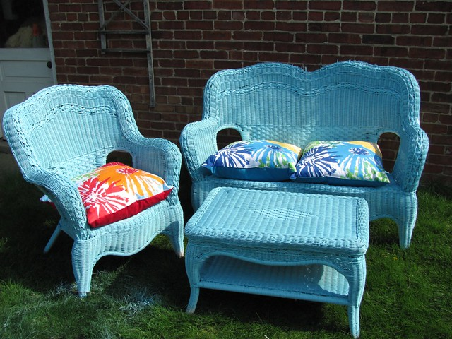Wicker furniture makeover flickr photo sharing - Wicker furniture paint colors ...