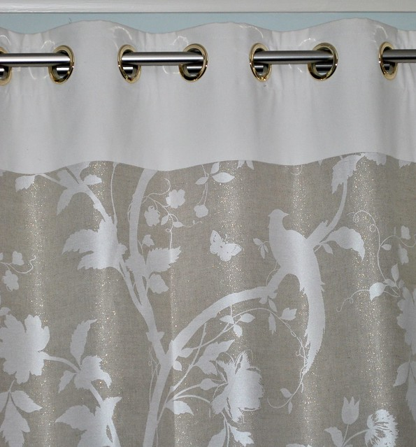 Bird print curtains flickr photo sharing