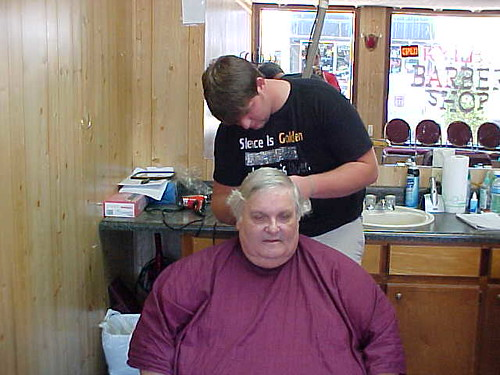 Me Getting A Haircut. (The Worst Picture I Ever Had Made Of Myself.)